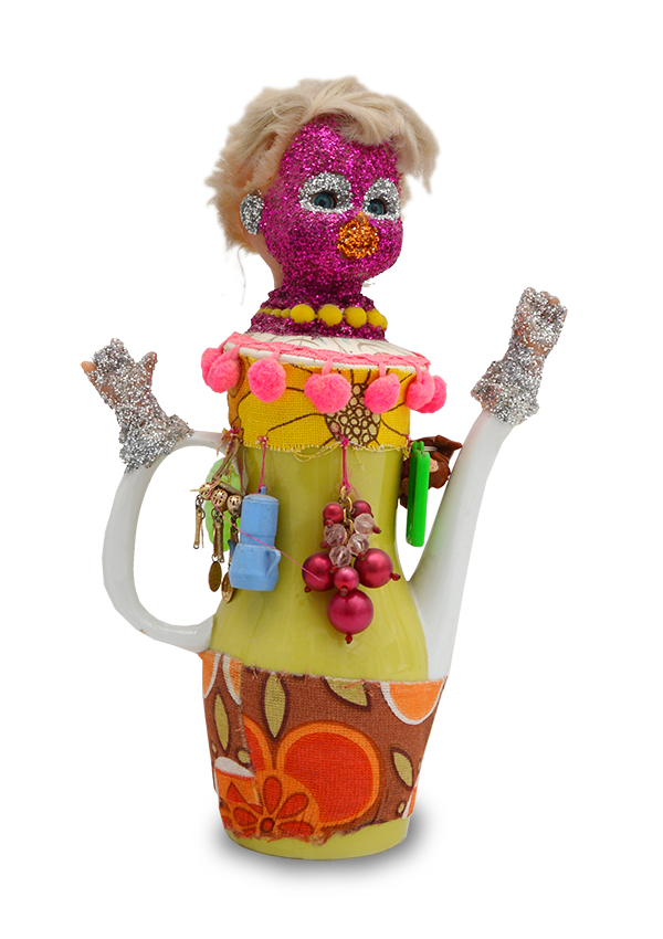 sculpture 'coffee pot dolly'